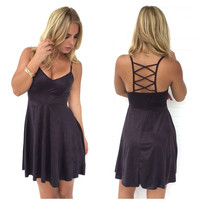 Gamble With Desire Dress In Charcoal