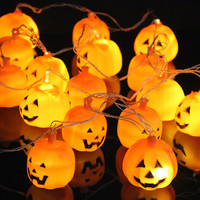 Halloween Pumpkin Led String Light 3M 16 LEDs AC 220V Orange Pumpkin Led Lights Outdoor Holiday Party Decoration Lanterns Lights