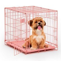 iCrate Fashion Edition Pet Crate - Pink 24""