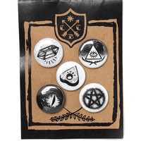 Spooky Button Pack (Set of 5)