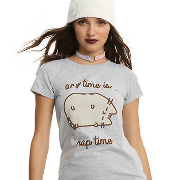 Pusheen Any Time Is Nap Time Girls T-Shirt