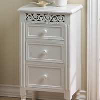 Charming White Side Accent Table