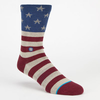 Stance The Fourth Mens Crew Socks Red Combo  In Sizes