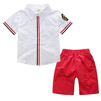 Baby Boys Clothing Sets Short Sleeve Children Clothing born Baby Clothes Kids T-shirt+Pants