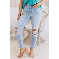 Get A Clue Distressed Jeans (Light)