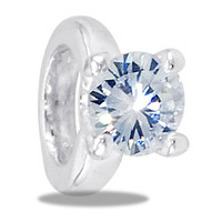 DaVinci Beads Silver CZ Enagament Ring Jewelry