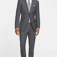 Men's Canali Classic Fit Check Wool Suit