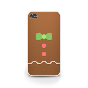 Gingerbread Man phone case, iPhone 6 case, Samsung and Blackberry, Holiday Phone Case, Cute, Samsung S5 Case - X002