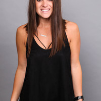 Twisted Sister Tank {Black}