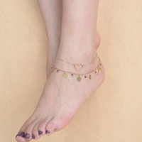 Stylish Jewelry Cute Gift Ladies Shiny Sexy New Arrival Accessory Summer Handcrafts Crystal Tassels Anklet [6768806407]