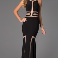 Floor Length Sleeveless Illusion JVN by Jovani Dress