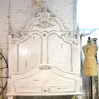 Painted Cottage Shabby  French Linen Romantic  Bed BD399
