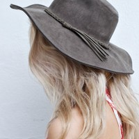 Olive Hat with Braided Strap