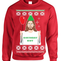 Birthday Boy Jesus Women's Crewneck Ugly Christmas Sweater