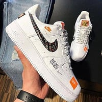 Nike Air Force 1 AF1 Just Do It JDI Fashion Women Men Casual Sport Shoes Sneakers