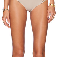 MIKOH Rockies Crochet Side Bikini Bottom in Beige