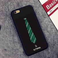 Slytherin Harry Potter Printed Soft TPU Shell Skin Phone Case For iPhone 6 6S Plus 7 7 Plus 5 5S 5C SE 4 4S Cases Back Cover
