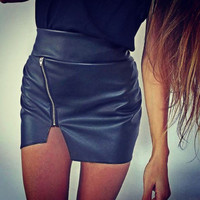 Bodycon Skirt Top Quality PU Leathe