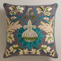 Teal Bulb Throw Pillow | World Market