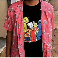 Unqlo x Kaws Fashion Casual Print Shirt Top Tee