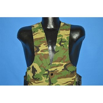 80s Woodland Camo Hunting Vest Small