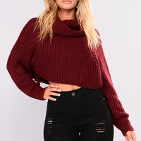 Halina Sweater II - Burgundy
