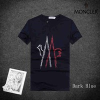 Trendsetter Moncler Women Man Fashion Print Sport Shirt Top Tee