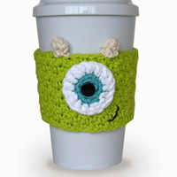 PDF PATTERN: Crochet Monster's Inc. Mike Coffee Cup Cozy Digital Download