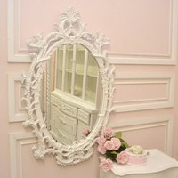 Shabby Cottage Chic Oval French Style Mirror