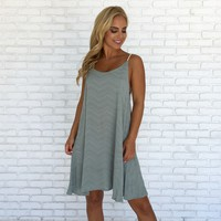 Braided Strap Teal Tank Dress