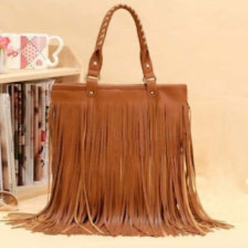 Tassel Purse -- Brown