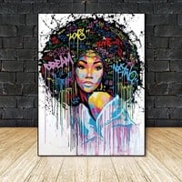 Wall Art Pictures Canvas Painting Wall poster decoration for living room prints colorful people on canvas no frame home decor