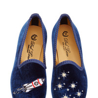 Del Toro Rocket Ship Children'S Slippers Navy