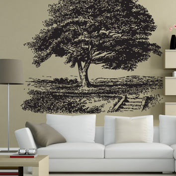 Vinyl Wall Decal Sticker Park Tree #1535