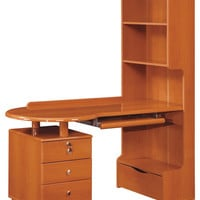 Global Furniture Study Desk, Cherry - Modern - Desks And Hutches - by Global Furniture USA