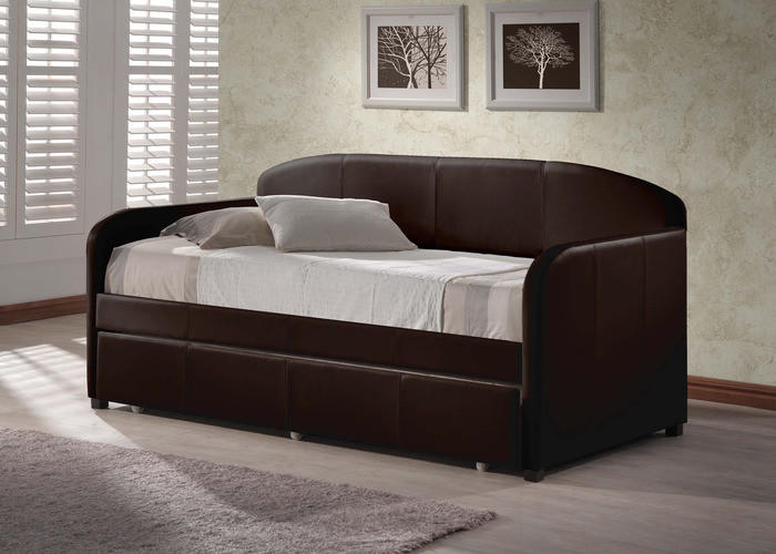 Image of 1613-springfield-daybed-w-trundle-brown - Free Shipping!