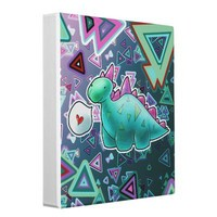 Baby Dinosaur Triangle Background Vinyl Binders from Zazzle.com