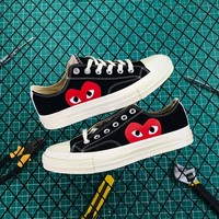 Cdg Play X Converse Chuck Taylor 1970s Low Black - Best Online Sale