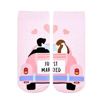 Just Married Ankle Socks