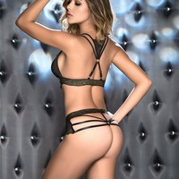 Gold Dust G-String Lingerie Set