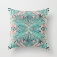 JUNGLE BOHO VIBES Throw Pillow by Nika