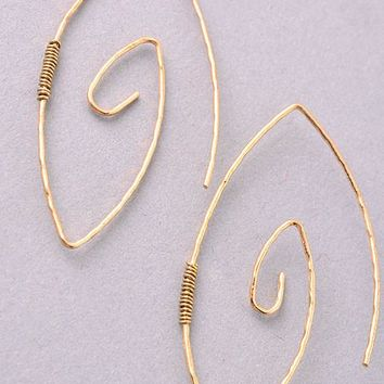 Swirl Earrings Matte Gold