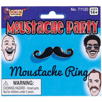 Mustache Party Mustache Ring - Black-gold