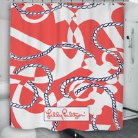 "New Lilly Pulitzer Booze Cruise Custom Shower Curtain 60"" x 72"""