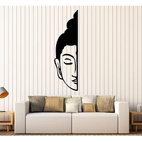 Vinyl Wall Decal Buddha Face  Buddhism Decoration Room Stickers Unique Gift (393ig)