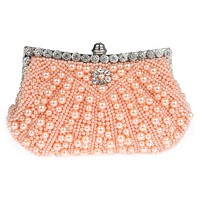Pearl Evening Bags Clutch Crystal Small For Women 2017 Bride Party Wedding Bags Minaudiere Bague Mariage Bag SMYSFX-E0220