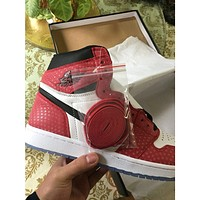 Original Air Jordan 1 AJ1 Spiderman White Red Spot Chicago 555088-602