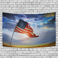 4th of July Independence Day American Flag Tapestry Wall Hanging Red Blue Stars and Stripes USA Flag Wall Decor Art Home Decor