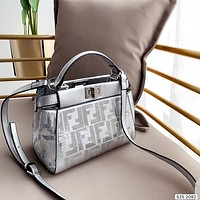 Fendi Women Leather Shoulder Bag Satchel Tote Bag Handbag Shopping Crossbody