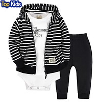 autumn winter baby boy girls clothing sets newborn zipper jacket Rompers pants suit baby clothes